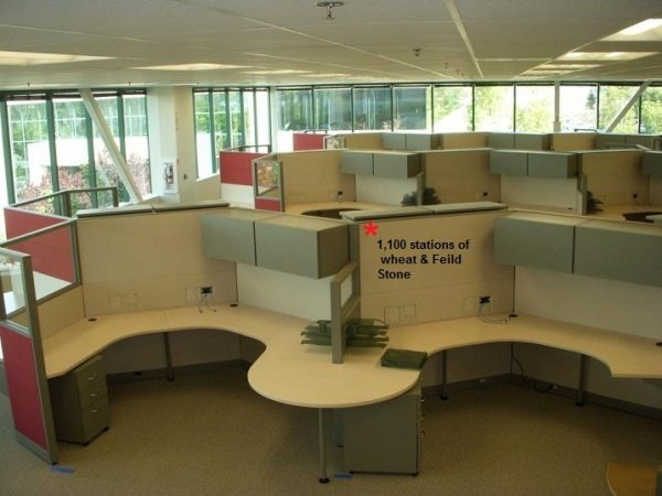 Used 6×8 or 6×6 or 8×8 Steelcase Answer with 54 high panels