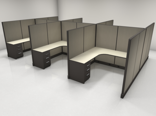 6X6 67″ High Cubicles with One File
