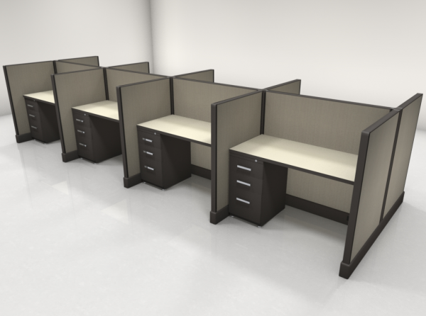 Call Center Cubicles 47″ High, One File