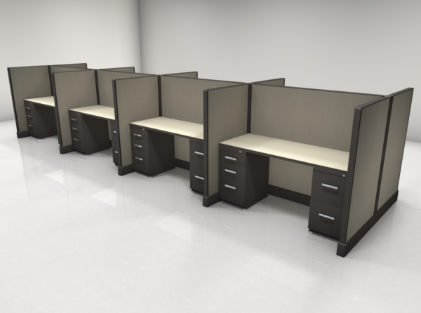 Call Center Cubicles 53″ High Two Files